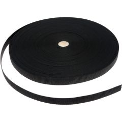 PP Band 20mm zwart voor gespen